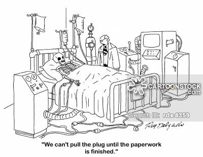 'We can't pull the plug until the paperwork is finished.'